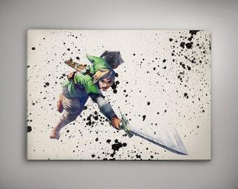 Legend of Zelda Poster, The Legend of Zelda Room Decor, Legend of Zelda Print, Zelda Watercolor,Legend of ZeldaArt