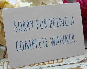 Funny Sorry Friendship Card