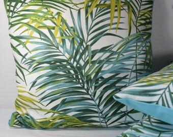 Palm tree Tropical Plant 40 x 40 cm Blue back cushion cover