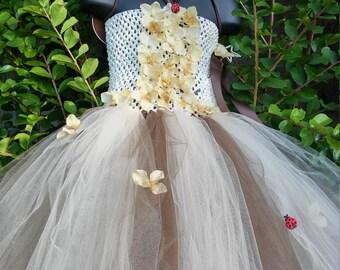 Woodland Fairy Tutu Dress Size 4T - 5T