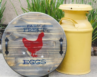 Farm Fresh Eggs Serving Tray