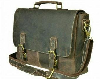 Kazami Genuine Vintage Leather Portfolio Bag
