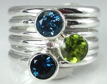 Stackable Sterling Silver Bands
