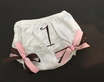 Diaper cover, 1st birthday, smash set
