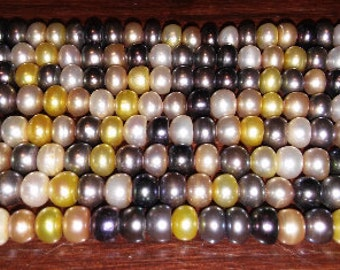 SALE! Pearl beads pearl mix multicolored pearls gray pearls white pearls peach pearls yellow pearls button pearls