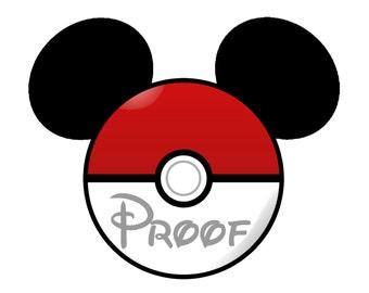 Disney Mickey Head Pokemon Disney Digital File to Download for Personal Printing  Disney Pokemon