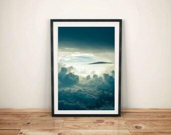 Clouds Wall Art, sky photograph, wall art, home decor, clouds, white clouds, inspiring wall art,