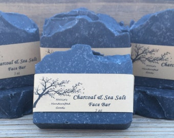 Charcoal & Sea Salt Acne~Busting Face Bar Soap