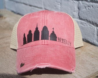 Philly Skyline -Black/Pink