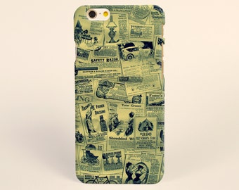 iPhone 7 Case Vintage newspaper, hipster iPhone 7 plus Case, iPhone 6 Plus Case, iPhone 6 Case, iPhone 6s Case, Tough iPhone Cases