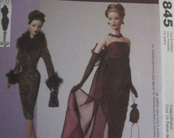Pattern Mc Calls 3845 Crafts. The tyler Wentworth collection evening for barbie doll dress