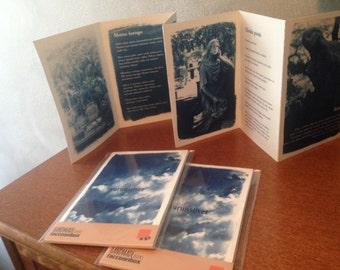 Surunsiivet Poetry Cyanotype Book with poems by Päivi Guynoel (in Finnish)
