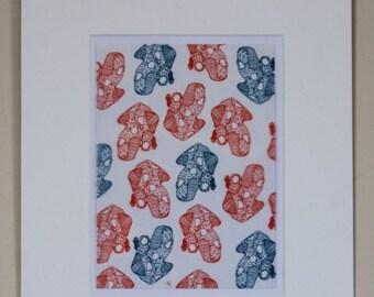 12x10 coral illustration print