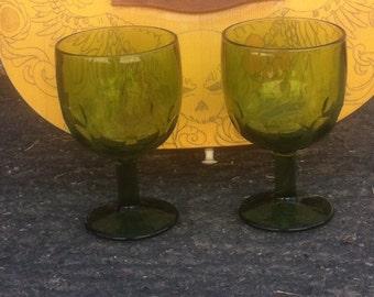 Green Thumb Print Goblets Bartlett Collins