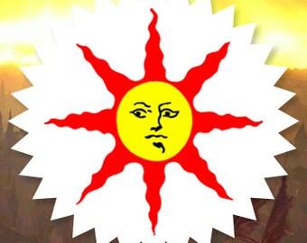Dark Souls, Warrior of Sunlight, Solaire of Astora, Knight of Sunlight, Tri Color, Vinyl Sticker, Vinyl Decal, Free Shipping!