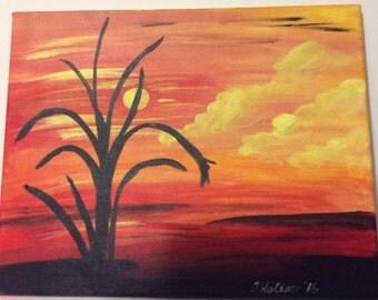 Warm color Sunset