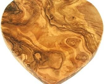 Beautiful Olive wood heart-shaped board