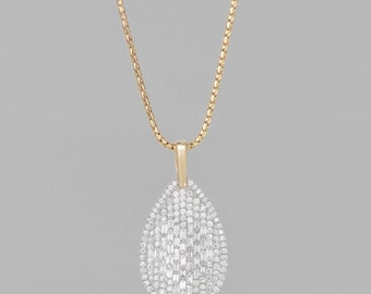 Necklace 14 K gold diamonds 3CT