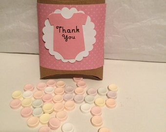 Baby shower favor box ,set of (15), baby shower treat boxes,