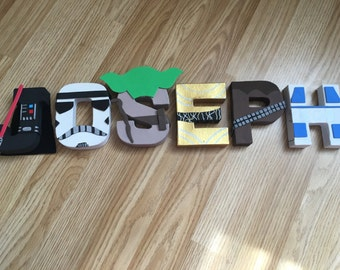 Handmade personalised Star Wars letters
