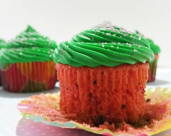 Watermelon Cupcakes, 1 Dozen, Local Delivery Only