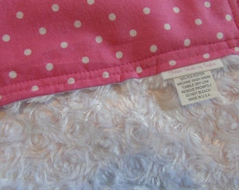 Newborn Blanket, Toddler Minky Blanket,Baby Girl Blanket, Crib Blanket, Stroller Blanket, Baby Shower Gift, Minky Blanket, New Baby