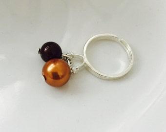 Ring with Swarovski beads