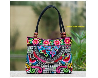 Tote Bag, Canvas Tote Bag 2016 Embroidered Hand Made