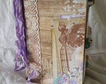 Shabby Chic Altered Book- Journal, Sketchbook