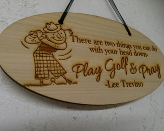 Wooden Golf Hanging Decoration