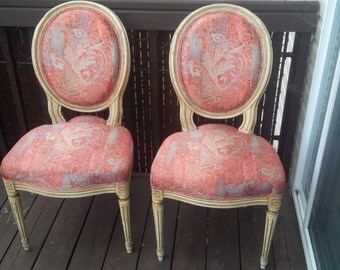 Antique Louis XVI chair dinning (Louis XVI style dining room chair)