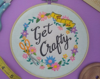 Get Crafty embroidery hoop art