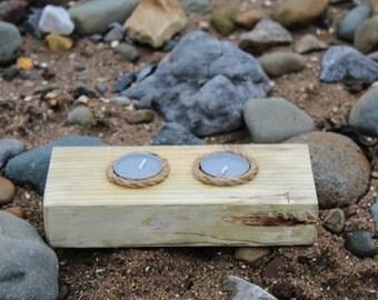 Rustic Handmade Driftwood Tealight Holder