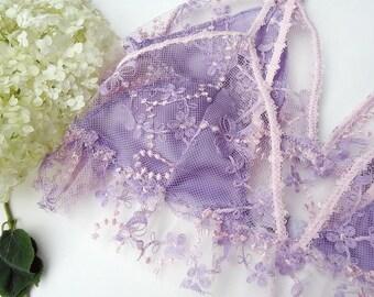 Lavender and pink  sheer lace bralette, lavender lace, lace bralette, sheer bra, violet sheer bra