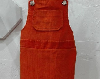 child dress orange 1970