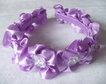 Lila silk headband