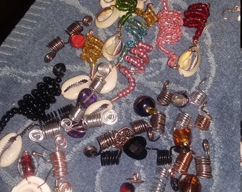 Earrings and Loc Jewelry