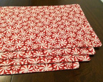 Peppermint Christmas Placemats