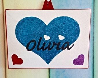 3 Heart Name plate