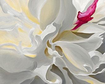 Metamorphosis, a Peony Flower Limited Edition Print from an original painting by artist Karen Hollis (unframed)