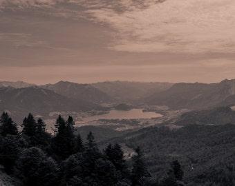 Sepia Austrian Landscape
