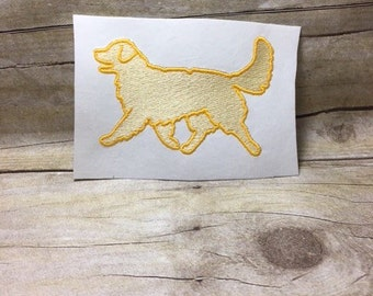 Dog Embroidery Design, Dog Filled In Embroidery Design