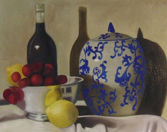 Still Life: A Bowl, A Bottle, and A Vase