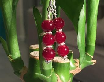 Cute Red Dangly Earrings