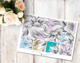 "Planner Stickers for the vertical Erin Condren Life Planner - Blue Ancestor Kit ""Washi"" Sheet"