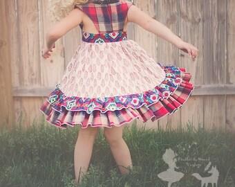 Bohemian Plaid Dress