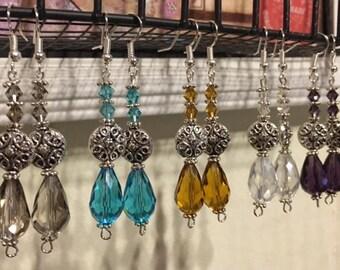 Fancy Crystal Drop Earrings