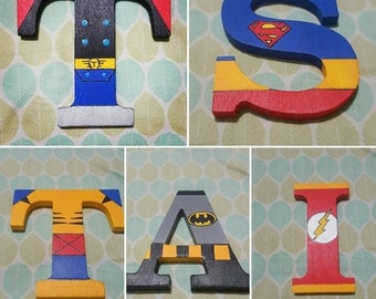 """Personalized 5"""" Superhero Letters"""