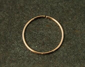 12mm Nose Ring Hoop,Rose Gold Nose Rings,Sterling Silver Nose Rings,Nose Piercing,Nose Hoop,Cartilage Hoop,Tragus Rings,Helix Hoop,Lip Rings