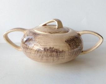 Vernon Kilns Barkwood Sugar Bowl and Lid